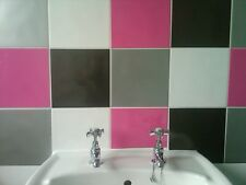 """KITCHEN TILE STICKERS EASY FIT TRANSFORM OLD TILES 6"""" X 6"""" AND 8"""" X 8"""""""
