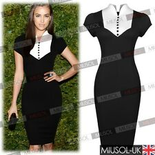 Ladies Office Elegant Work Business Formal Tunic Cocktail Bodycon Pencil Dresses