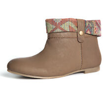 Womens Ladies Tan Leather Ankle Chelsea Boots