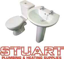 Lecicio Waterloo SET - Basin and Close Coupled Toilet with Seat