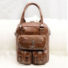 2014 Hot College Wind retro fashion pu leather shoulder lady student backpack 60