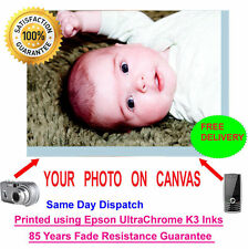 Personalised Photo Image Print on Canvas size A1 A2Perfect Gift Tracked Delivery