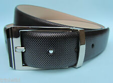Mens Dress Snake Skin Effect Real Leather Belt Black Silver/Grey black Bronze