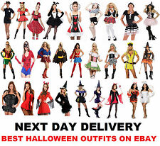Ladies Halloween CostumesFancy Dress Outfit Womans Party Adult New Girls Size