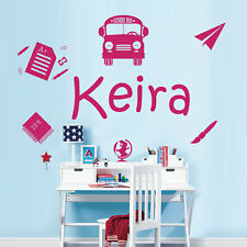 Personalised Name Wall Art Sticker - Classroom, Back to School, Learn
