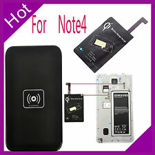 Wireless Qi Charger Charging Pad + Receiver Kit For Samsung Galaxy Note4 N9100