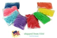 DIY 600 pcs 8 Colors For Rainbow Loom Refill Rubber Bands 24Clips Kit Fashion