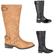 Casandra Ladies Knee Fur Quilted Length Boots