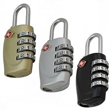 AMOS® TSA Approved Luggage Suitcase Travel 4 Dial Combination Security Padlock