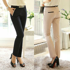 Fashion Women Lady Slim Fit Skinny Pencil Pants Formal OL Casual Long Trousers