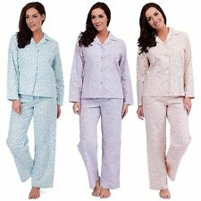 Ladies Pyjamas Sleepwear Dalmatian Print Cotton Bottoms & Long Sleeve Top PJ Set