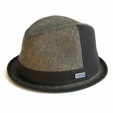 Dasmarca Harold Wool Blend Tweed Brown Winter Fedora/Trilby Hat