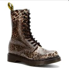 Dr martens 1490 leopard/cheetah  print 10 eye limited edition /discontinued .