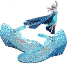 New Frozen Blue Elsa Princess Cosplay Shoes Girls Shoes UK 9 10 11 12 13 1