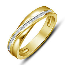 Riva Jewels 14k Gold Plated Round CZ Elegant Band Ring in 925 Sterling Silver