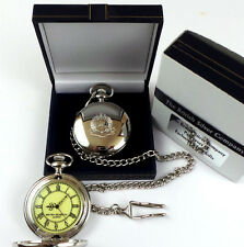 ROYAL MILITARY POLICE Silver British Army Pocket Watch in Luxury Gift Case