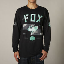 NEW FOX RACING MENS ADULT GORGED BLACK LONG SLEEVE L/S TEE T SHIRT LS