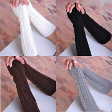 Fashion Girl Women Arm Warmer Long Fingerless Knit Mitten Winter Gloves 26