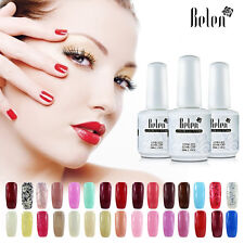 177 Colors Available Soak Off Gel Nail Polish Top Base Coat Shiny Varnish UV New
