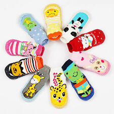 Baby Toddler Moccasins Non-Slip Shoes Socks Booties Slippers Long Multi Designs