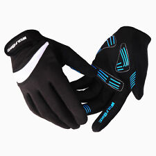 Black Full Finger Cycling Bicycle Motorcycle Sports Racing Game Gloves M-XL