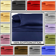 1000TC 100% EGYPTIAN COTTON 1 X FITTED SHEET & 2 PILLOWCASE SOLID XMAS OFFERS!