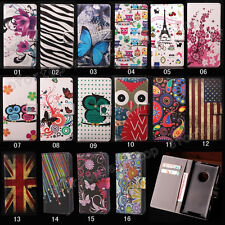 New Flip Printed Magnetic Holder ID Card/Wallet PU Leather Cover Case For Nokia