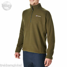 Berghaus Men's Arnside Half Zip Micro Fleece Top - Olive - New - All Sizes