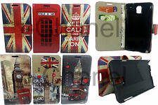 Leather Stand Wallet Flip Mobile Phone Case Cover For Samsung Galaxy Note 2