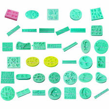 3D Polymer Clay Silicone Mold Sugarcraft Fondant Cake Cookies Stamp Decor Mat