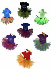 Girls Superhero Comic Geek Heroes Neon Tutu Sparkle Baby Set Fancy Dress 1980's