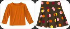 Gymboree NWT Rust long sleeve top and Corduroy Polka Dot Skirt sz 4  EACH SOLD S