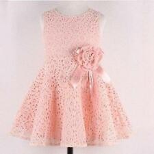 Sweet Kids Baby Girl Lace Floral Dress Sleeveless Princess Party Dress Skirts