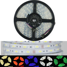 RGB 5M 5050 SMD 300 / 600 LED Light Strip Silicone Tube Case IP67 Waterproof