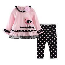 Chick baby girls Autumn spring polka dot clothing set baby girl suit LS-T0003