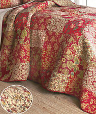 Beautiful Stratford Patchwork King Bed Quilt Reversible Bedroom Decor New