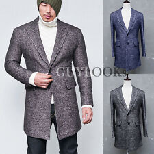 Top Quality Designer Homme Mens Slim Wool Tweed Urban Single Coat Jacket Guylook
