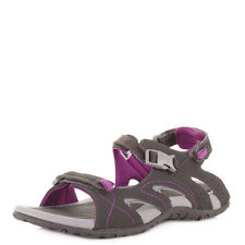 Ladies Hi Tec Indra Strap Charcoal Wine Walking Outdoor Sandals Size