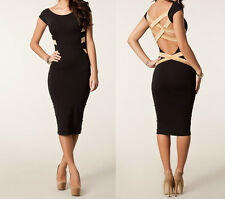 Hot Women Vestidos De Festa Midi Bodycon Pencil Bandage Dress Sexy Club Dress