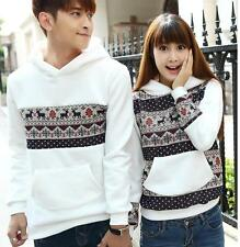 Hot Fashion Korean Style Deer Lovers Sweater Hoodie Couple Dress Lover's Clothes