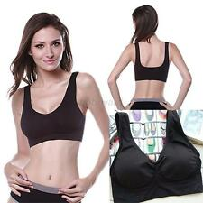 Women's Comfortable Sports Athletic Seamless Strechy Solid Bras Crop Tops Vests
