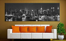 New York City Skyline Canvas Print Wall Art Black White Decor Picture Prints