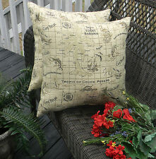 2 Pk Decorative Throw Zipper Pillow Covers Tommy Bahama Fabric Indoor Outdoor