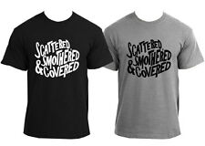 Scattered Smothered and Covered Shirt t Funny Humor Southern Food Waffle House