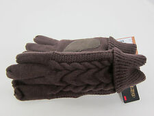 ISO ISOTONER WOMEN'S BROWN THINSULATE ULTRA FLEECE PATTERNED KNIT WINTER GLOVES