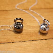 Kettlebell Charm NECKLACE Kettle Bell Necklace Fitness Weightlifting crossfit
