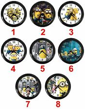 "Minions Toy Despicable Me 2 3D Gru Animation 10"" Analog Hanging Home Wall Clock"