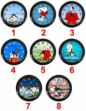 "The Snoopy Dog Charlie Brown Peanuts Comic Cartoon 10"" Analog Hanging Wall Clock"