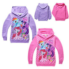 Cartoon My Little Pony Kids Girls Hoodies Sweatshirts T shirt Coat Clothing 3-8Y