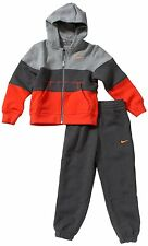 New Small Boys Nike Tracksuit Grey/Orange Hood & Joggers 426092 5-8 Years
